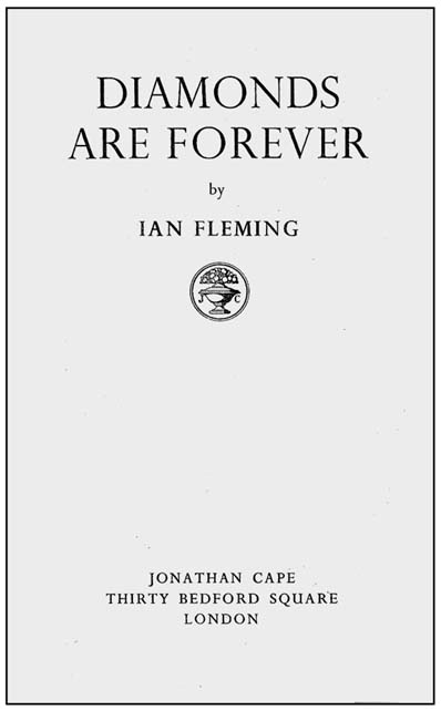 Diamonds are Forever. Ian Lancaster FLEMING.