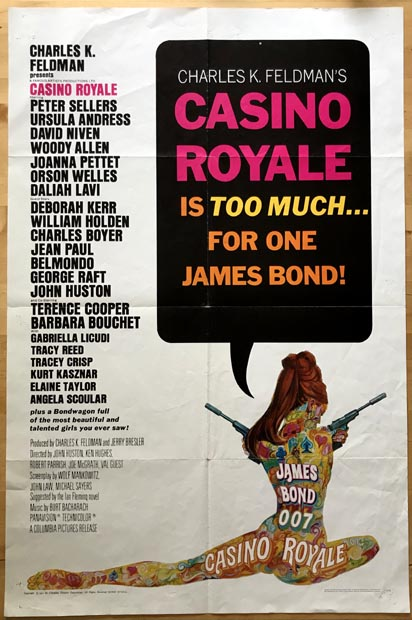 [MOVIE POSTER] Casino Royale. Ian Lancaster FLEMING.