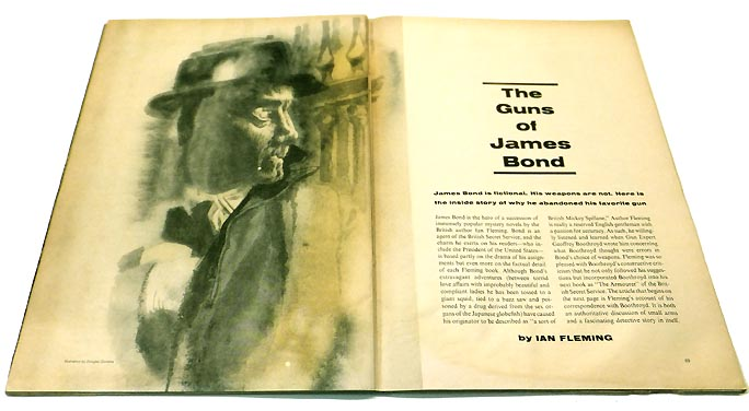 'The Guns of James Bond' contained within 'Sports Illustrated' Magazine Vol 16, No.11, 19th March 1962. Ian Lancaster FLEMING.