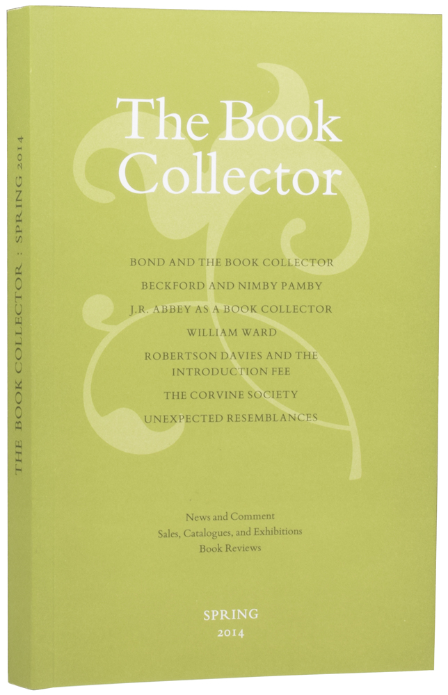'James Bond and the Book Collector' within The Book Collector. Spring 2014. Ian FLEMING, Jon, GILBERT, Nicolas BARKER, James, FERGUSSON.