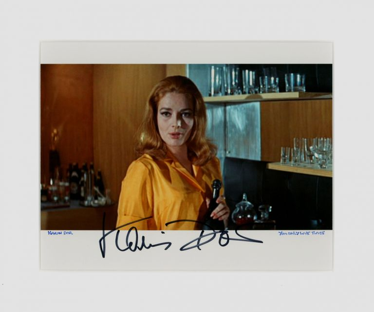 Signed Karin Dor Still from the film 'You Only Live Twice' (1967). Karin DOR.