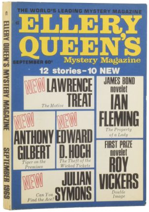 contribute to...'ELLERY QUEEN'S MYSTERY MAGAZINE'. Ellery QUEEN, Anthony, GILBERT, Ian, FLEMING,...