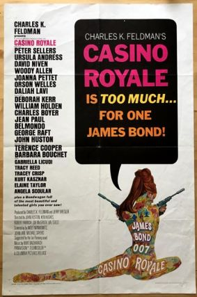 MOVIE POSTER] Casino Royale. Ian Lancaster FLEMING