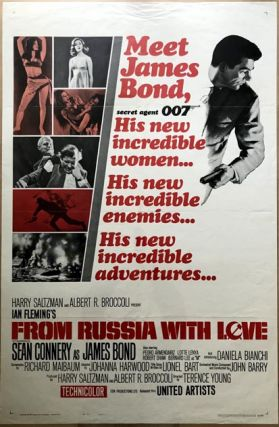 MOVIE POSTER] From Russia With Love. Ian Lancaster FLEMING
