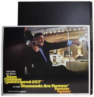 Diamonds Are Forever [LOBBY CARDS]. Guy HAMILTON, director, Richard MAIBAUM, Tom MANKIEWICZ,...